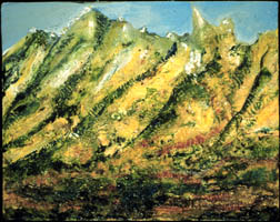 Mount Whitney landscape oil painting