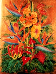 Bouquet Tropical still life floral painting