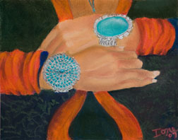 Indian Bracelets, southwest indian pastel