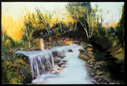 River of No Return landscape original oil on canvas painting