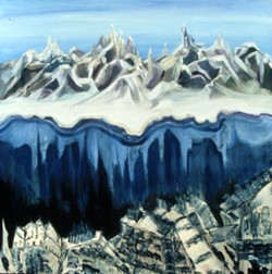 The Peaks landscape oil painting