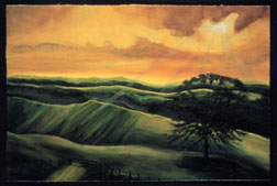 The Ranch landscape original oil on canvas painting
