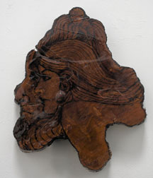 The Lovers, wood carving