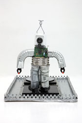 Rudy the Robot - mixed media sculpture, view 3