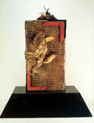 The Mummy, figure mixed media sculpture