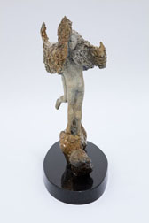Love Birds - bronze sculpture, another side  view