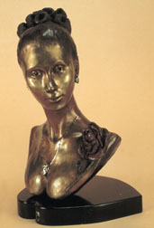 The Rose - bronze sculpture, front view