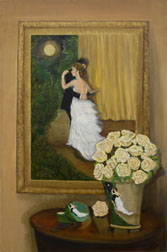 Black Tie Affair, figure painting, oil on canvas