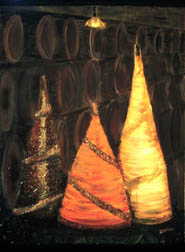 Decanters still life painting